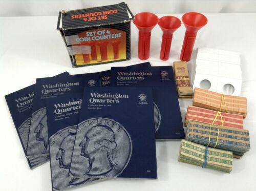 Coin Counting Set with Coin Wrappers, Coin Collecting Set