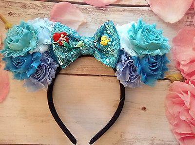 Ariel The Little Mermaid-Mickey Mouse Ears Headband-Under the Sea Disneyland ()