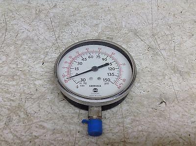 Usg U.s Gauge Ammonia Asme-b40.1 30 In Hg Vac-150 Psi Pressure Gauge Asmeb401