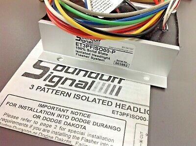 Soundoff Signal Et3pfiso00-p Headlight Flasher System
