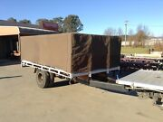 Farm trailer with canvas top.  Porepunkah Alpine Area Preview