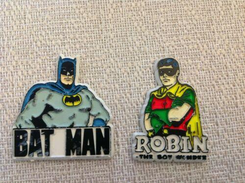 Rare 1970s Batman and Robin Pins or Magnets L@@@@K!