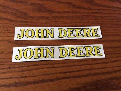 Two Nice John Deere Logo Decals 34 X 6inch 16