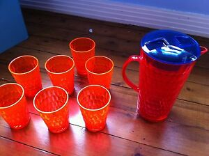 Vue plastic cups and jug Dolls Point Rockdale Area Preview