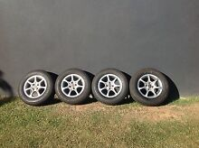 """Tyres with  Mags ,195/70/14 tread 95% with 4stud/100mm 14"""" Mags Cleveland Redland Area Preview"""
