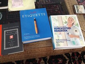3 definitive guides to etiquette, manners and Homekeeping - 30$
