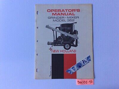 New Holland 352 Grinder-mixer Operators Manual