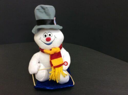 """10"""" Gemmy Wobblin Toboggan """"Frosty The Snowman"""" Sings Frosty the Snowman  WORKS"""