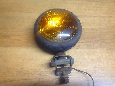 LS 371 glass amber lens VINTAGE turn lamp early signal TRUCK LIGHT mount