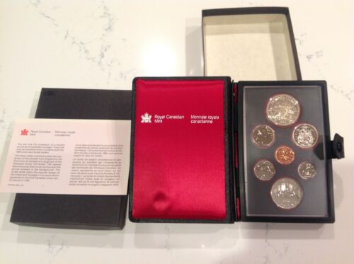 1980 CANADIAN PROOF SET - 7 COINS W/ SILVER DOLLAR,