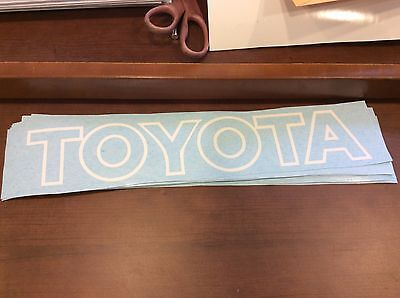 Toyota Forklift Decal Vinyl decal for the mast area White