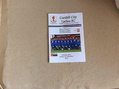 Cardiff City Ladies v Chelsea Ladies POSTPONED 2007-08 Programme