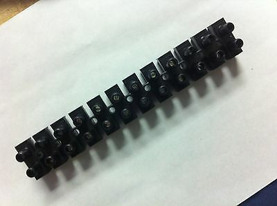 Large 12 Bank Wire Connector Screw Terminal Block Awg 10-8