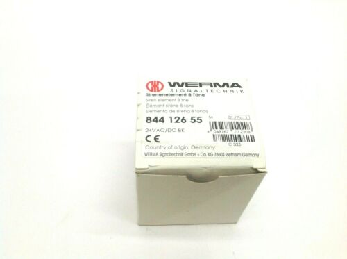 WERMA Signaltechnik 844 126 55 24VAC/DC BK Siren Element 8 Tone Sirenelement