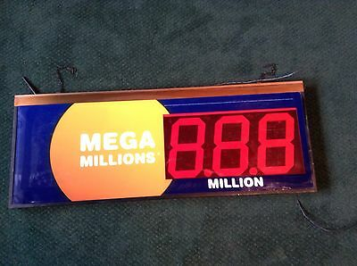 Lighted Mega Millions Lighted Sign Lottery  34  X 13  Man Cave Garage Decor