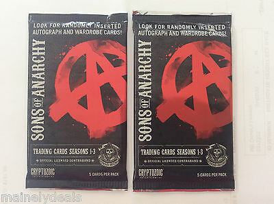 Lot Of 2 Sons Of Anarchy Seasons 1 3 Trading Cards Unopened Packs Box Fresh New