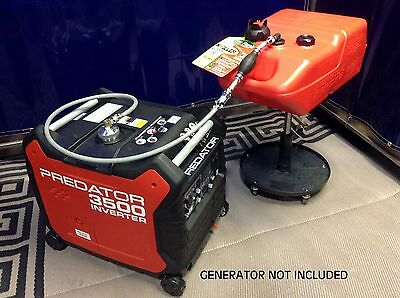 PREDATOR 3500 WATT INVERTER GENERATOR 6 GALLON EXTENDED RUN FUEL SYSTEM
