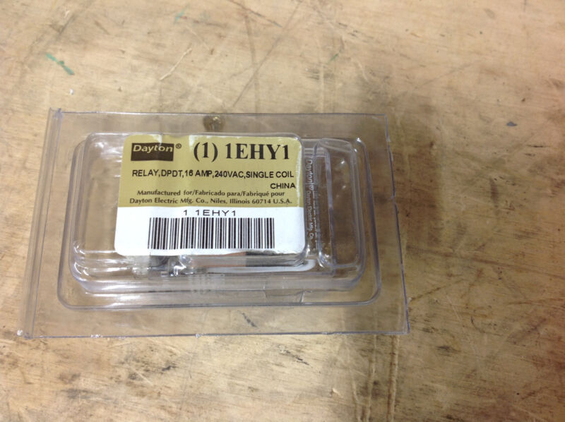 Dayton 1EHY1  Relay Latching, DPDT 16A, 240VAC, Single Coil Volts. NEW