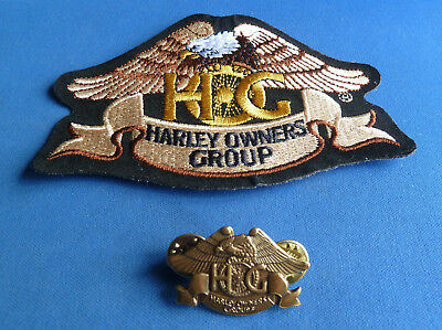 HARLEY DAVIDSON  HOG PATCH & HOG Lapel Badge