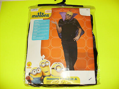 MINIONS MINION DRACULA MEN TEEN HALLOWEEN COSTUME ONE SIZE