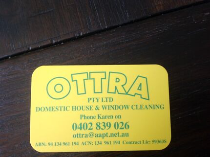 Domestic house and window cleaning