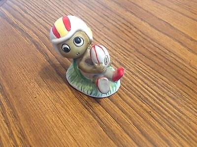 Enesco vintage Sports Turtle figurine, HTF rare, holding football