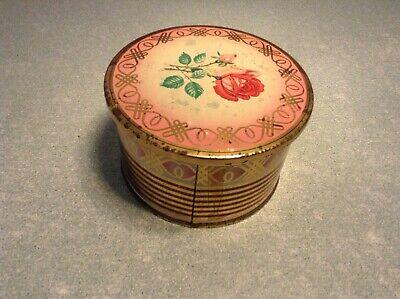 Ancienne boîte en métal de collection décorée