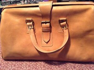 Handmade leather overnight bag Campsie Canterbury Area Preview