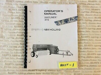 New Holland Baler Model 315 Service Operators Manual