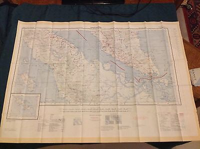 1957 Vintage Fabric (Rayon/Silk) Map Of Singapore & Penang, First Edition