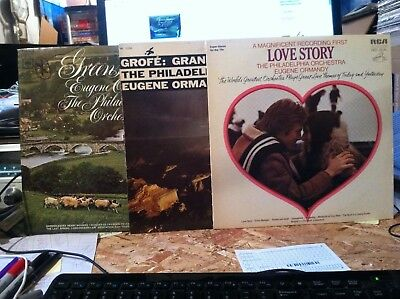 Eugene Ormandy Philadelphia Orchestra 3 LP vinyl lot - Greensleeves - CHRISTMAS ()