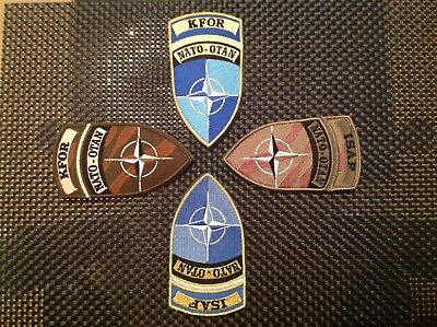 Set von 4 Abzeichen, NATO-OTAN, ISAF Und KFOR