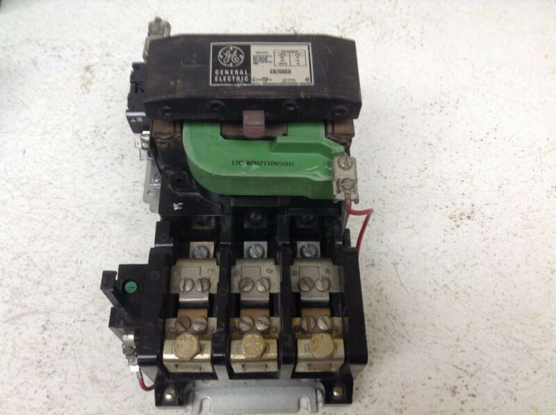 GE General Electric CR206E0 Size 3 Motor Starter 90 Amp 110/120 VAC Coil CR206EO