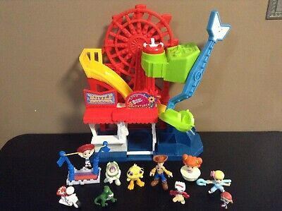 IMAGINEXT TOY STORY 4 PLAYSET LOT FIGURES CARNIVAL FISHER PRICE