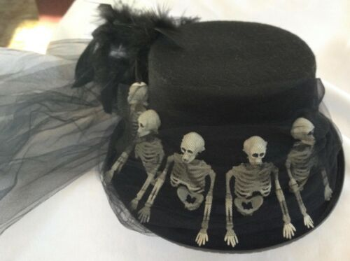 Bethany Lowe Skeleton Riding Hat-Halloween/Costume