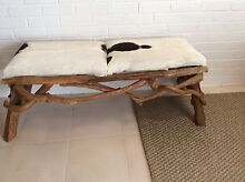 Gorgeous cow hide bench seat Woollahra Eastern Suburbs Preview