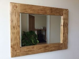 Rustic wooden mirror ebay for Wooden mirror frames for crafts