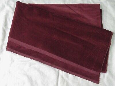 """Reddish-brown velvet velveteen fabric, vintage - 84"""" long x 43"""" wide"""