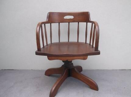 Antique Timber Captains Chair Merimbula Bega Valley Preview