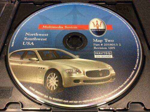 Maserati NAV GPS DVD CD DISK 2  2018013 2 1/05 Northwest Southwest US #CD60