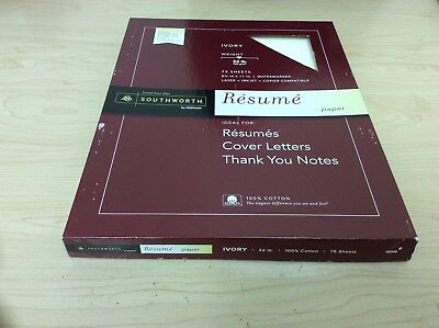 Ivory 75 Sheets 8 5  X 11  Watermarked Laser   Inkjet Compatible Resume Paper