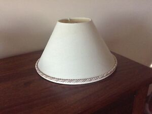 Lamp Shade - Cream with rose pink/cream brocade edging Quinns Rocks Wanneroo Area Preview