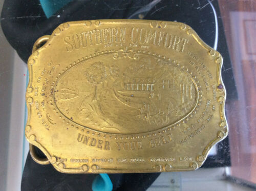 Official Souvenir 1892 Southern Comfort Tiffany Rare Stones Belt Buckle See Pics