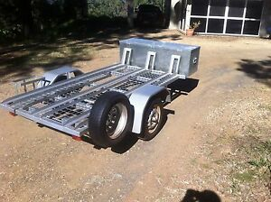 Motorbike motorcycle trailer fits 3 bikes in vgc Boonah Ipswich South Preview