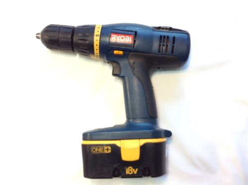 ryobi p206 18v nicd 1 2 cordless drill driver with battery ebay. Black Bedroom Furniture Sets. Home Design Ideas