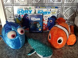 """Finding Nemo"". Nemo, Dory, & Destiny Plush & Books & DVD"