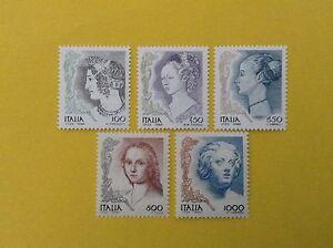 1998-ITALIA-REPUBBLICA-SERIE-COMPLETA-NUOVA-LA-DONNA-NELL-039-ARTE-5-VALORI