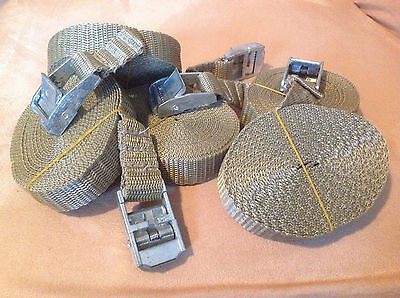 Nylon TieDown Straps - Metal clasp w/spring and teeth - SET OF 4 - FREE SHIPPING