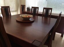 Solid Jarrah Dining Table + 8 chairs Carlisle Victoria Park Area Preview