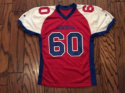 NEW 2010 Jr Midget NOR-CAL ALL-STAR Football Jersey Boys L/XL Stitched #60 NWOT image